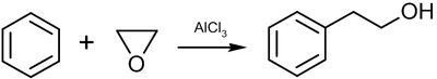Friedel-Crafts reaction with ethylene oxide