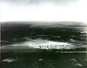 Overhead view of airfield