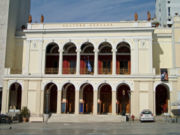 The Apollo Theatre in Georgiou I square, a work of the architect Ernst Ziller, built with the contributions of the thriving 19th century commercial class