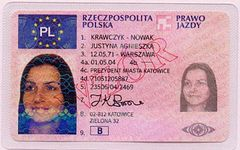 PL driving license front