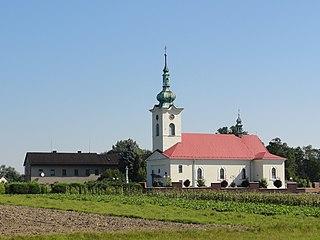 Zabrzeg Village in Silesian Voivodeship, Poland