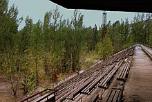 PRIPYAT FOOTBALL GROUND NEAR THE CHERNOBYL PLANT NOW ABANDONED UKRAINE SEP 2013 (10006750744).jpg