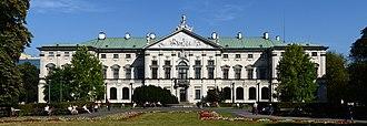 Krasiński Palace - Krasiński Palace, view from the gardens