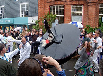 'Obby 'Oss festival - The blue ribbon 'Oss in 2009