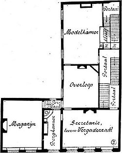 Pagehuis Den Haag 1st floor plan before restoration.jpg