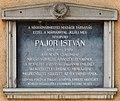 Pajor István plaque (Balassagyarmat Kossuth Lajos u 29).jpg