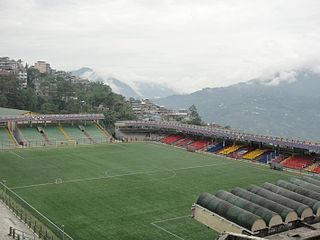 Paljor Stadium building in India