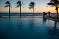 Palm Trees & The Mediterranean Sea at Sunset (12196079954).jpg