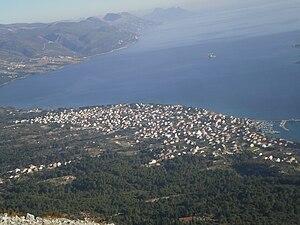 Orebić - view of Orebić from west