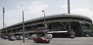 Stadion Grbavica - Image: Panoramic view of Grbavica Stadium, Sarajevo