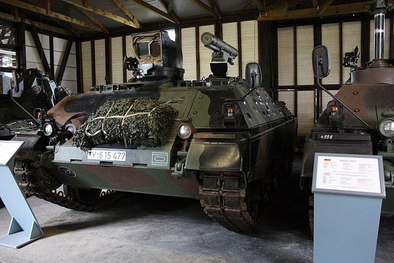 Raketenjagdpanzer Jaguar at the Panzermuseum Munster.