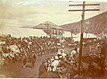 Parade, probably in celebration of Victoria Day, Dawson, Yukon Territory, May 24,1900 (MEED 121).jpg