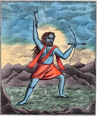 Parashurama - Parashurama, Sixth Avatar of Vishnu - Hindu Art Studio, Calcutta c1880's