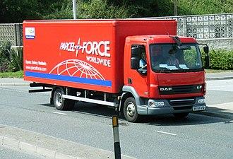 Parcelforce - Parcelforce delivery vehicle.