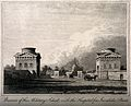 Paris; the Barriere de l'Etoile, with the Military School in Wellcome V0014323.jpg