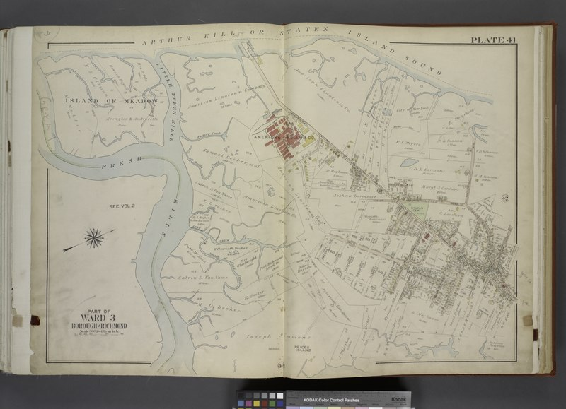 File:Part of Ward 3. (Map bound by Little Fresh Kills, Richmond Turnpike, Burying Hill Road, Cannon Ave (Lexington Ave), Burke Ave, Linoleum Ave (Penn Ave), Decker Ave, Watson Ave, Pearson St NYPL1646261.tiff
