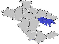 Location of Pathardi in احمدنگر ضلع in مہاراشٹر
