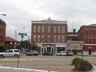 Monmouth, Illinois - Patton Block Building in Monmouth