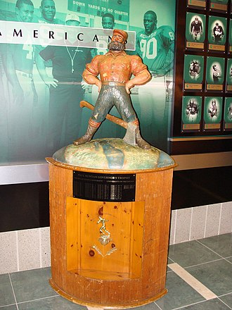 Michigan–Michigan State football rivalry - The Paul Bunyan Trophy on display at Michigan State in 2009
