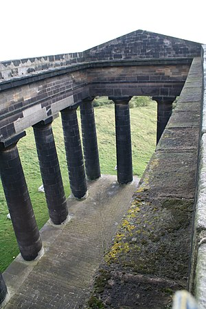 Penshaw Monument - The monument from the  walkway