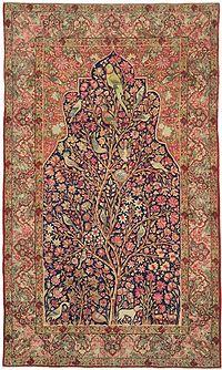 قالی ایرانی ویکی پدیا، دانشنامهٔ آزاد