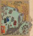 Persian ghazal in modern day Afghanistan 1400s.png
