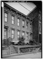 Perspective view of east (front - Williams Duplex Tenament, 730-732 North Main Street, Wheeling, Ohio County, WV HABS WVA,35-WHEEL,45-4.tif