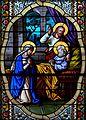 Pfarrkirche Lourdes Glasfenster Josephs Tod.jpg
