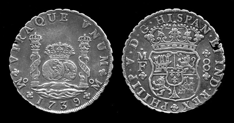Philip V Coin silver, 8 Reales Mexico