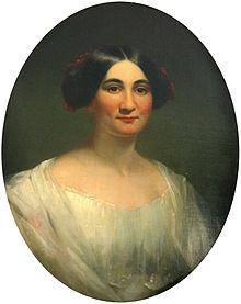 1850 portrait of Phoebe Cary in New York City which hangs in her childhood home in North College Hill, Ohio