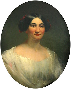Portrait of Phoebe Cary that hangs in her chil...