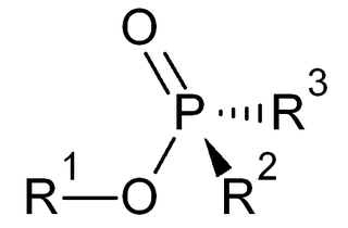 Phosphinate organic chemical compound containing phosphinate ester or phosphinic acid group