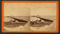 Pier extending from a sandy shoreline, by Havens, O. Pierre, 1838-1912.png
