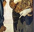 Pier francesco fiorentino, madonna col bambino e santi, 1470-90 ca. 07 maddalena, mano.jpg