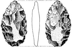Pieza foliacea bifacial-1