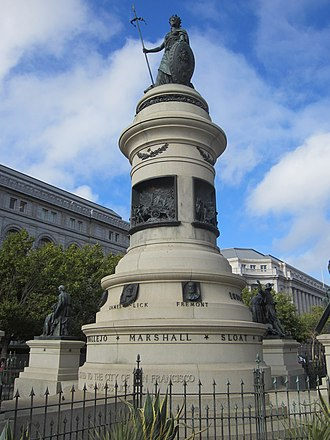 Pioneer Monument (San Francisco) - Image: Pioneer Monument, San Francisco (2013) 01