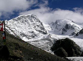 Piz Bernina - Piz Bernina from the west