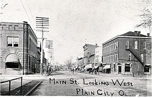 Plain City, Ohio - Downtown Plain City, 1906
