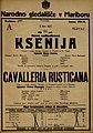 Plakat za predstavi Ksenija in Cavalleria Rusticana v Narodnem gledališču v Mariboru 8. marca 1925.jpg