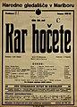 Plakat za predstavo Kar hočete v Narodnem gledališču v Mariboru 20. decembra 1927.jpg