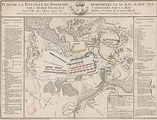 Order of battle for the Battle of Fontenoy