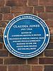 Plaque commemorating claudia jones