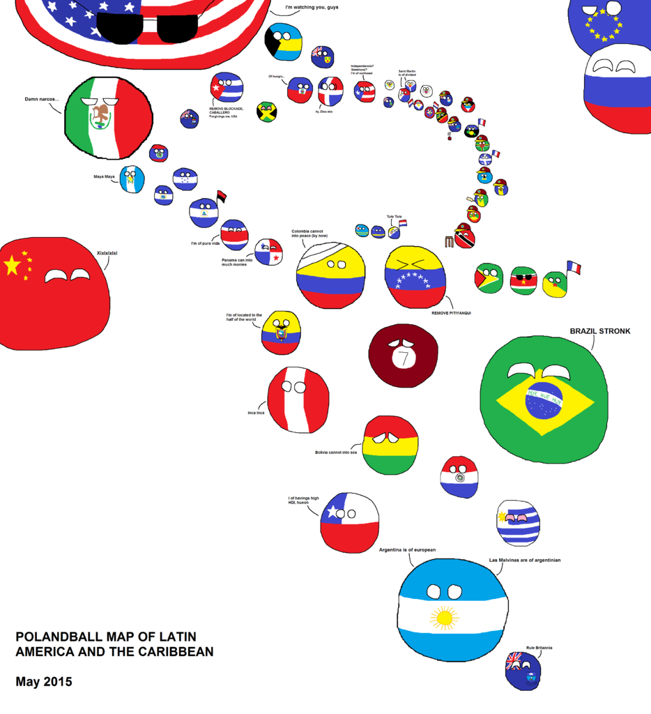 Blank Map Of Latin America And The Caribbean 90