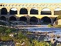 Pont du Gard - the ancient Roman Aquaduct - dawn blue - 2006 - panoramio.jpg
