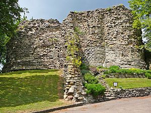 Pontefract Castle - The ruins of Pontefract Castle's keep