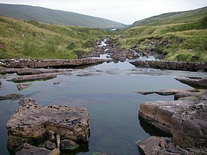 Fforest Fawr - Afon Dringarth before it enters the Ystradfellte Reservoir