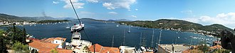 Saronic Gulf - Panoramic view of Saronic Gulf from Poros island