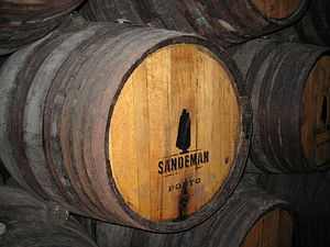 A barrel of Sandeman port