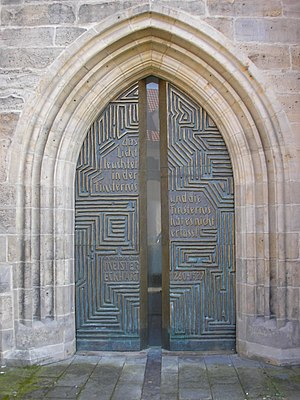 Meister Eckhart - The Meister Eckhart portal of the Erfurt Church