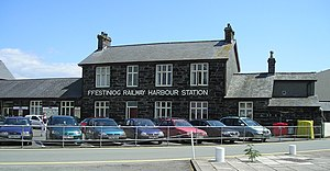 Porthmadog Harbour railway station - The front face of the station